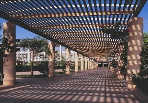 مظلات ممرات خشبية