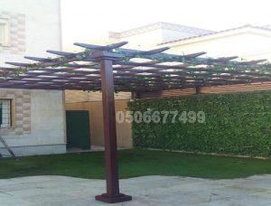 مظلات احواش خشبية