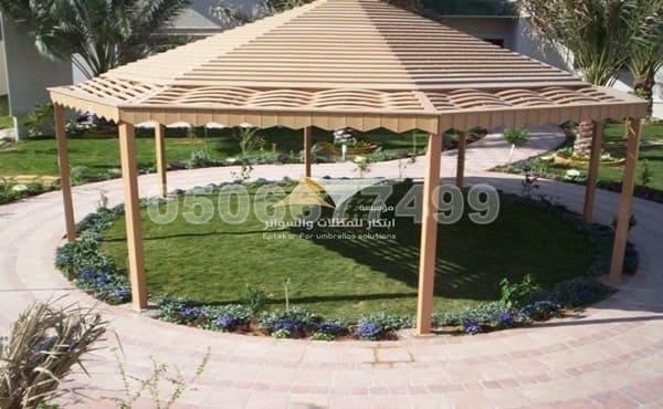 تصاميم مظلات خشبية