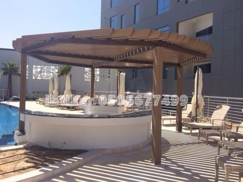 مظلات خشبية الرياض